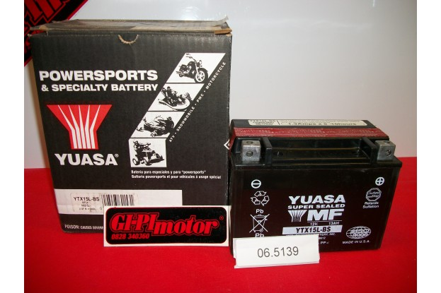 BATTERIA YUASA YTX15L-BS